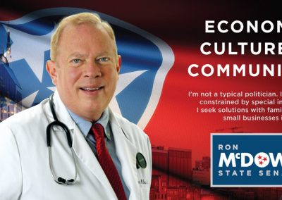 Ron McDow State Senate - Mailer - Front