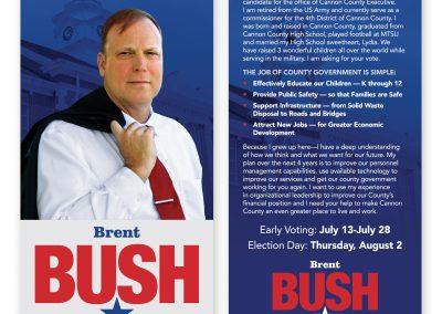 Brent Bush Palm Card